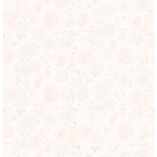 Brewster Pastel Floral Texture Pre-pasted Wallpaper