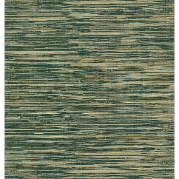 Faux Grasscloth Wallpaper: Brewster Green Faux Grasscloth Wallpaper