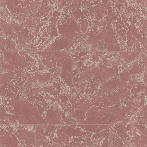 Brewster Maroon Marble Tile Wallpaper