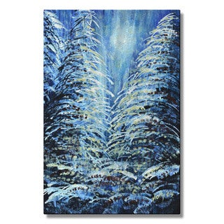 Holly Carmichael 'Tims Winter Forest' Metal Wall Art