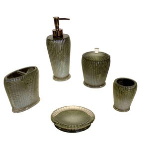 Sherry Kline Loiza Green Bath Accessory 5-piece Set
