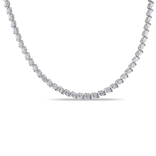 Miadora Sterling Silver 1/2ct TDW Diamond Necklace (J-K, I2-I3)