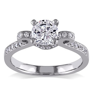 Miadora Signature Collection 14k White Gold 1ct TDW Diamond Bow Ring (G-H, I1-I2)