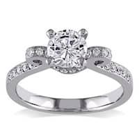 Miadora Signature Collection 14k White Gold 1ct TDW Diamond Bow Ring (G-H, I1-I2)