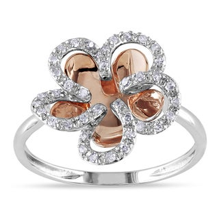 Miadora 10k Rose and White Gold 1/5ct TDW Diamond Fashion Ring (H-I, I2-I3)