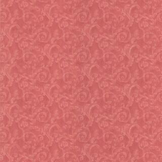 Shop Brewster Salmon Scrolls Wallpaper - Free Shipping On ...