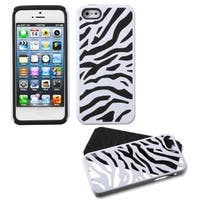 INSTEN Black/ White Zebra Protector Phone Case for Apple iPhone 5/ 5S/ 5C/ SE