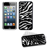 INSTEN White Black Zebra Protector Phone Case for Apple iPhone 5/ 5S/ 5C/ SE