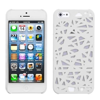 INSTEN White Bird's Nest Rubberized Protector Phone Case for Apple iPhone 5/ 5S/ SE