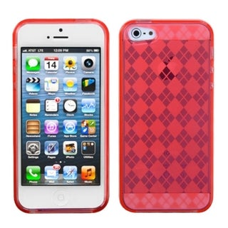 INSTEN T-Red Argyle Candy Skin Phone Case for Apple iPhone 5/ 5S/ SE