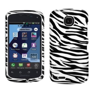 INSTEN Zebra Skin Phone Case Cover for Pantech ADR910LVW Marauder