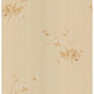 Brewster Beige Leaves Texture Wallpaper