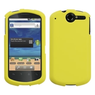 INSTEN Yellow Rubberized Phone Case Cover for Huawei U8800 Impulse 4G