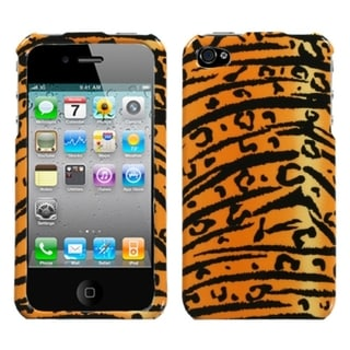 INSTEN Wild Tiger Skin Phone Case Cover for Apple iPhone 4/ 4S