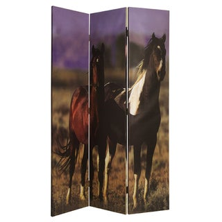 Thoroughbred 3-Panel Canvas Screen