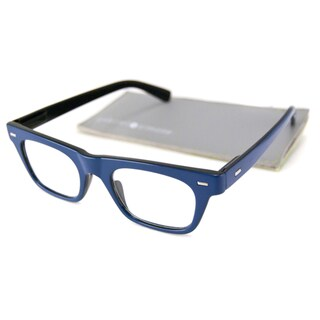 Gabriel + Simone Readers Men's/ Unisex Lyon Rectangular Reading Glasses - Blue