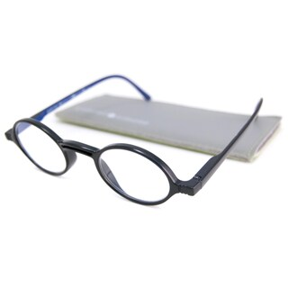 Gabriel + Simone Readers Men's/Unisex Rond Round Black-and-Blue Reading Glasses (More options available)
