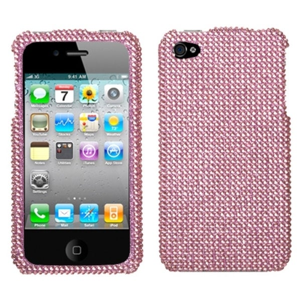 INSTEN Pink Diamante Phone Case Cover for Apple iPhone 4S/ 4