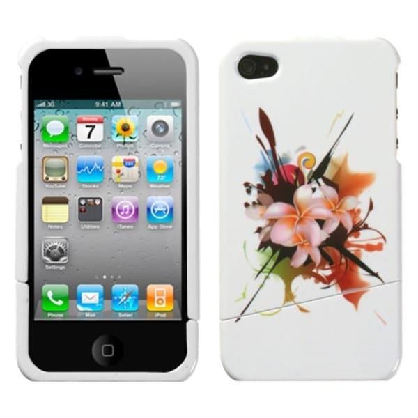 INSTEN Lotus Splash Slash Phone Case Cover for Apple iPhone 4S/ 4
