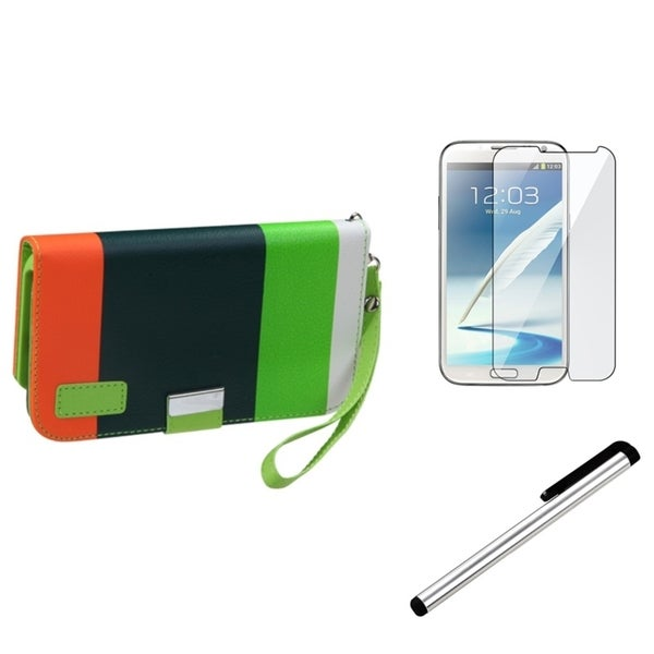 BasAcc Screen Protector/ Stylus for Samsung Galaxy Note II N7100