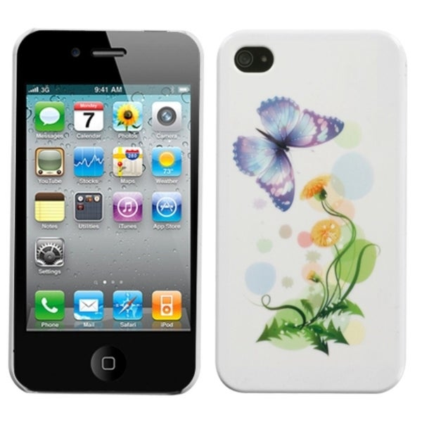 INSTEN Indigo Butterfly Phone Case Cover for Apple iPhone 4S/ 4