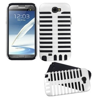 INSTEN White/ Black Fusion Phone Case Cover for Samsung Galaxy Note II T889/ I605