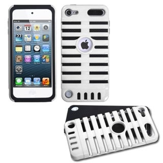 INSTEN White/ Black Micro Fusion iPod Case Cover for Apple iPod Touch 5