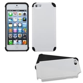 INSTEN White/ Black Frosted Fusion Phone Case for Apple iPhone 5/ 5S/ SE