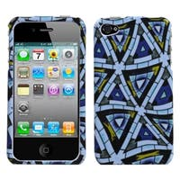 INSTEN Triangular Mosaic Phone Case Coverfor Apple iPhone 4S/ 4