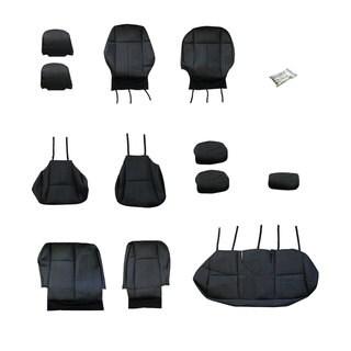 FH Group Custom Fit Black Leatherette 2009-2011 Toyota Corolla Seat Covers (Full Set)