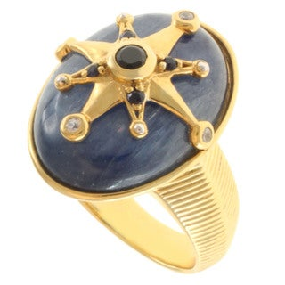 Michael Valitutti Gold over Silver Multi-Gemstone Ring