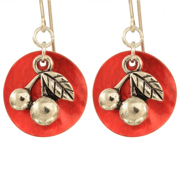 'Bright Cherry' Earrings