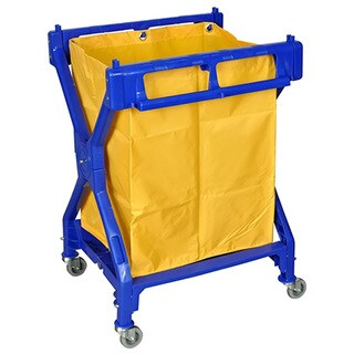 Offex Rolling Commercial Folding Heavy Duty Laundry Cart with Nylon Bag
