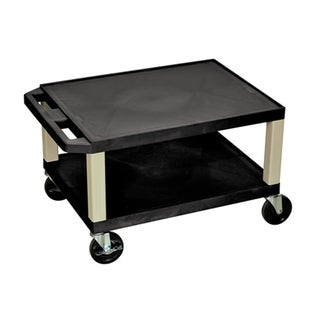 Offex Rolling 16-inch 2 Shelf Tuffy AV Cart with Putty Legs