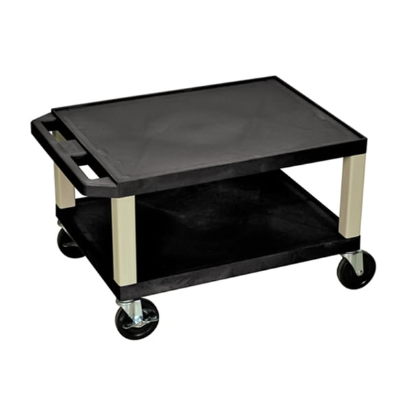 Offex Rolling 16-inch 2 Shelf AV Cart with Putty Legs