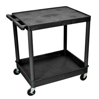 Offex Large Flat Top and Tub Bottom Shelf Cart