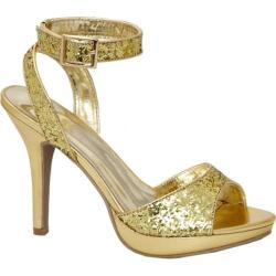Women's Lava Shoes Jane Gold Glitter