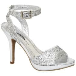 Women's Lava Shoes Jane Silver Glitter