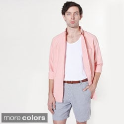 American Apparel Men's 'Kennedy' Seersucker Cotton Shorts