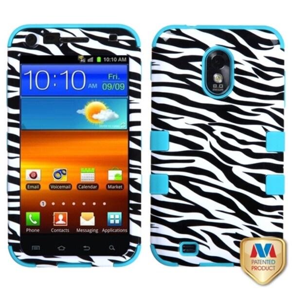 INSTEN Zebra Skin/ Teal TUFF Hybrid Phone Case Cover for Samsung Epic 4G Touch
