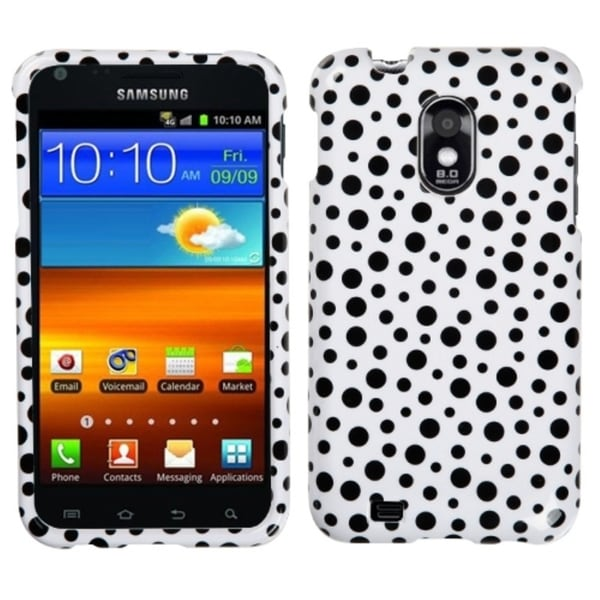 INSTEN Black Mixed Polka Dots Phone Case Cover for Samsung Epic 4G Touch