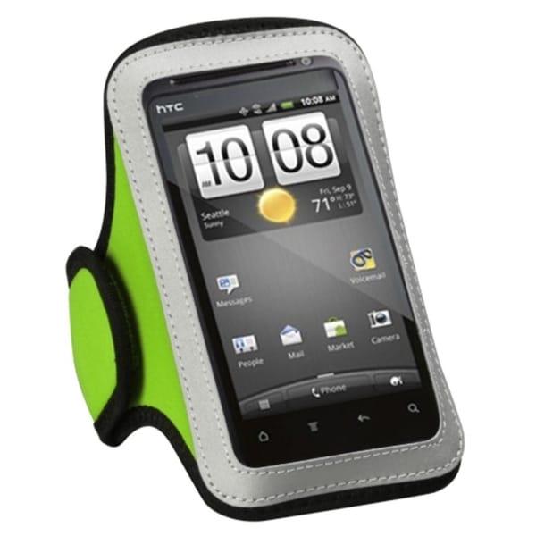 INSTEN Universal Vertical Light Green Sport Armband for HTC EVO 4G
