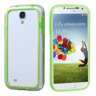 INSTEN Green/ Clear MyBumper Phone Case Cover for Samsung Galaxy S4 i9500/ i337