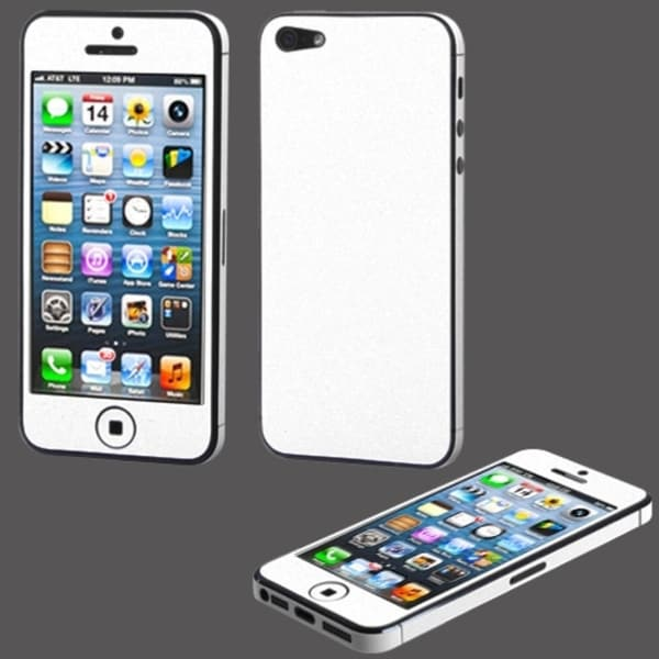 BasAcc White Full Body Sticker Screen Protector for Apple iPhone 5