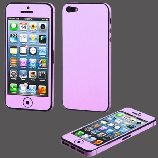 BasAcc Purple Full Body Sticker Screen Protector for Apple iPhone 5