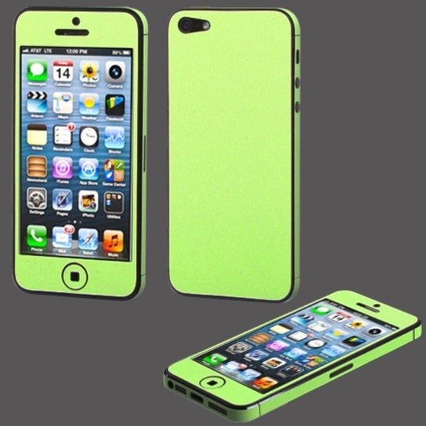 BasAcc Green Full Body Sticker Screen Protector for Apple iPhone 5