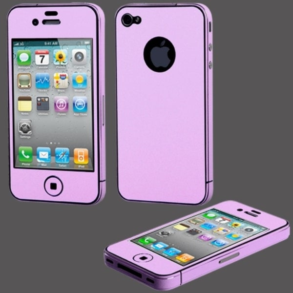 BasAcc Purple Full Body Sticker LCD Protector for Apple iPhone 4/ 4S
