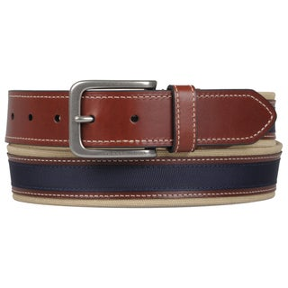 Shop Tommy Hilfiger Men S Topstitched Canvas Belt Free