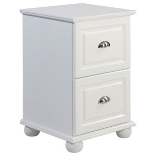 Copper Grove 2-drawer White Storage Cabinet