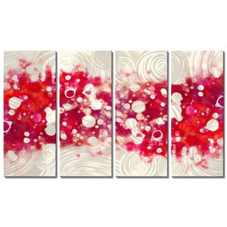 Christopher Price 'Drip Brokeh- Magenta' Metal Wall Art
